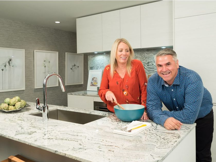 Julie and Dale Sawchuk bought a condo at Park Point. DON MOLYNEAUX CALGARY HERALD